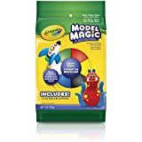 Crayola Model Magic 6 Color Craft Pack (Black/White/Yellow/Green/Red/Blue) 7 Ounce No-Mess, Soft, Squishy, Lightweight Modeling Material For Kids 4 & Up, Easy to Paint and Decorate, Air Dries Smooth