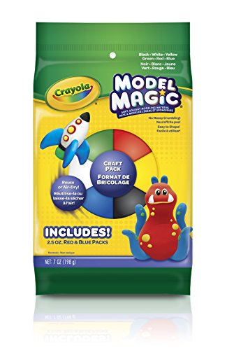 (Crayola Model Magic Craft Pack, Modeling Clay Alternative,)