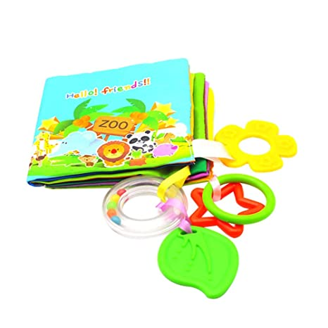 Scrox 1x Libros de Tela para Bebes Inglés Libro Educativo ...