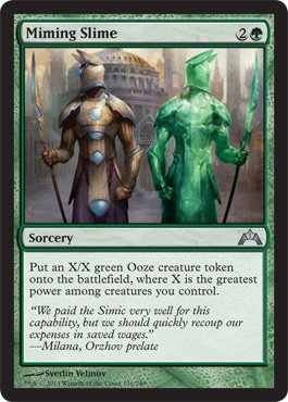 Magic: the Gathering - Miming Slime (126) - (Uncommon Sorcery Single Card)