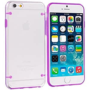 Accessory Planet(TM) Purple Crystal Transparent Clear Hard Hybrid Case Cover for Apple iPhone 6 Plus (5.5)