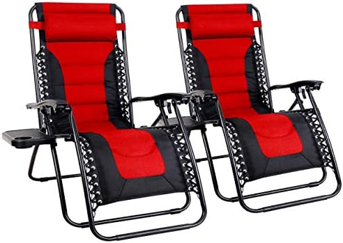Reviewed: MFSTUDIO Zero Gravity Chair Large Portable Patio Recliners Adjustable Padded Folding Chair