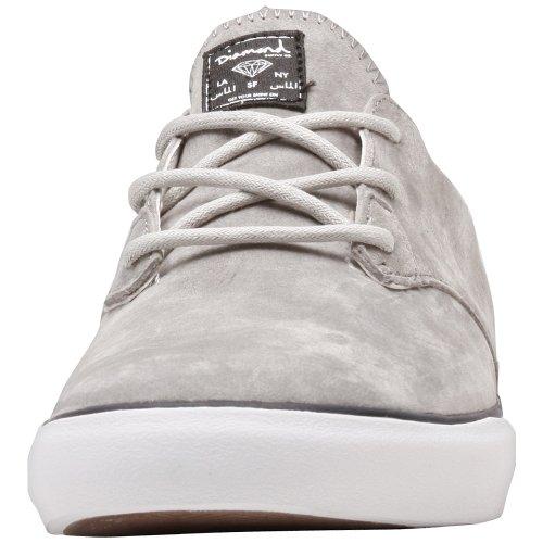 Diamond Supply Footwear Lo-Cut Light Grey Suede Shoes Size 6 U7jrVa