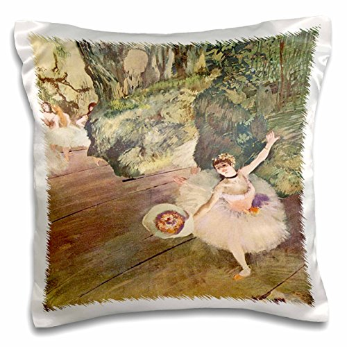 - 3dRose Edgar Degas Painting Take A Bow Of Ballerinas - Pillow Case, 16 by 16-inch (pc_61804_1)