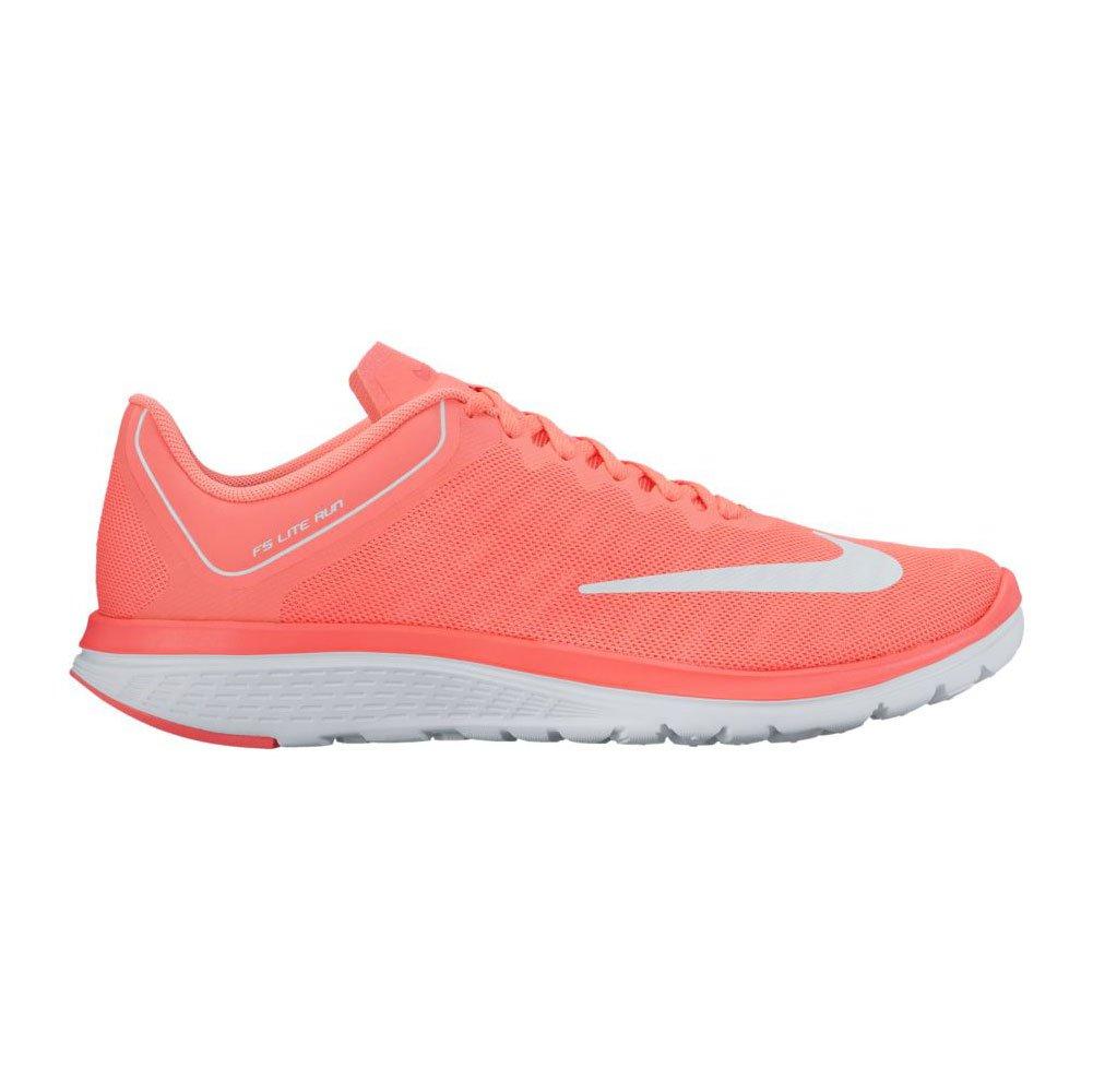 Nike Wmns FS Lite Run 4 4 4 – Lava Glow bianca Hot Punch, Multicolore, 9.5 08b842