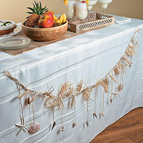 (Fun Express - Shell Garland W/Raffia - Home Decor - Decorative Accessories - Home Accents - 1 Piece)