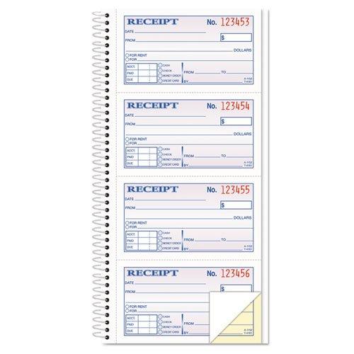 TOP4161 - Tops Money/Rent Receipt Spiral Book B004I0WMAY
