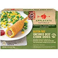Applegate Naturals Gluten Free Uncured Beef Corn Dogs, 10 Ounce (Pack of 12)