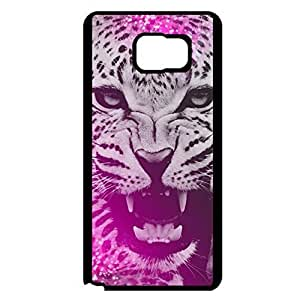 Samsung Galaxy Note 5 Phone Cover,Perfect Beauty Leopard Pattern Custom Delicate Printed Flexible Hard Phone Case for Samsung Galaxy Note 5