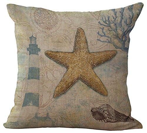 Sea World Throw Pillow Cover Sham Slipover ChezMax Cotton