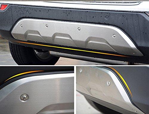HIGH FLYING Edelstahl vorne hinten Bumper Displayschutzfolie Skid Plate 2 F/ür Mokka X 2017 2018