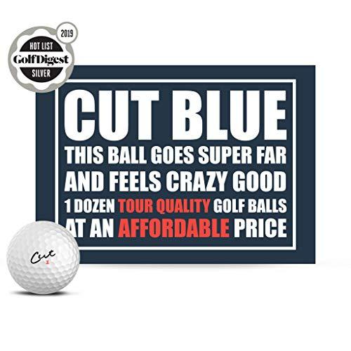 Cut Blue Golf Balls, 4 Piece Urethane (One Dozen) -