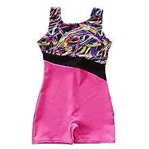 Happy Cherry Children Gilrs Sleeveless Gymnastics Leotard Athletic Dance Biketard Clothes