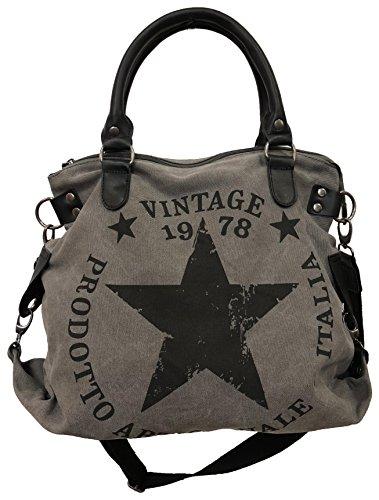 Étoile Grau À Motif Sac Star Jamestyle26 Vintage V2 Femme Pour Main Bag 86wxH