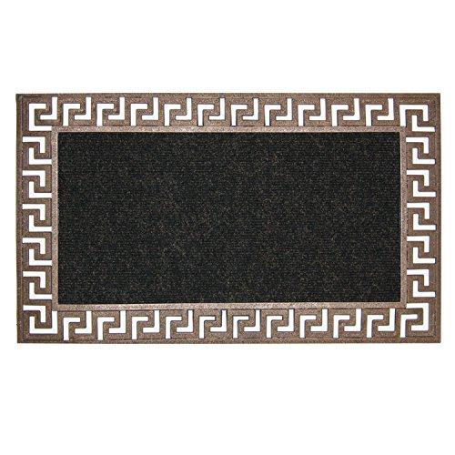 - Bacova Guild New Generations Door Mat, Greek Key Bronze, 30