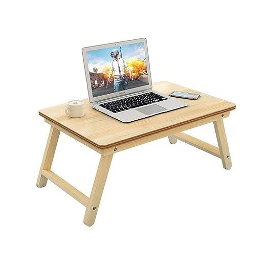 JIANPING - Mesa Plegable de Madera para Ordenador portátil: Amazon ...