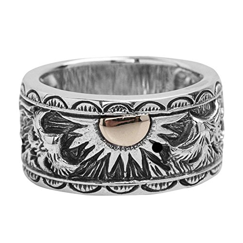 - Beydodo Mens Wedding Ring 925 Sterling Silver Indian Eagle and Sun Ring Size 7 Wedding Rings for Men