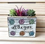 Yarn Lover Succulent Planter, Small Decorative Bin