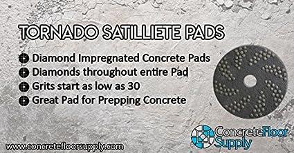 20, Yellow - 200 Grit Double Sided Diamond Floor Polishing Pad Tornado Pad