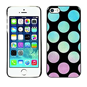 X-ray Impreso colorido protector duro espalda Funda piel de Shell para Apple iPhone 5 / iPhone 5S - Vibrant Violet Teal Sunset Pattern