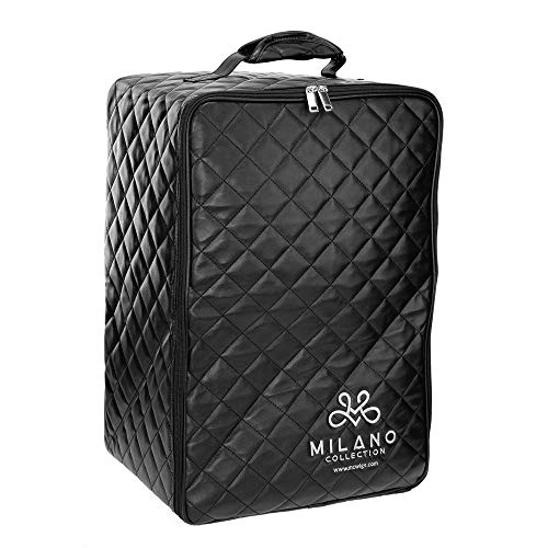 Milano Collection Professional Large Collapsible Wig Case for Wigs up to 19