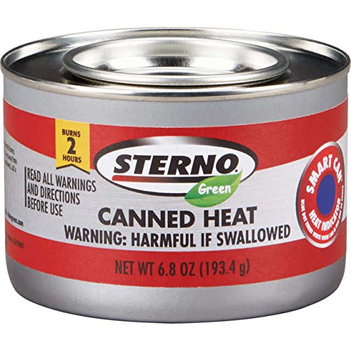 - STERNO Green Ethanol Gel Chafing Fuel 2 Hr Canned Heat 6.8 OZ cans -case of 24