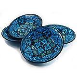Le Souk Ceramique Pasta/Salad Bowls, Set of 4, Sabrine Design