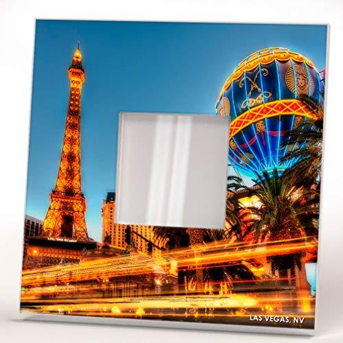 Casino Las Vegas Strip Skyline Nevada Downtown View Wall Framed Mirror Decor Art Home Design Gift