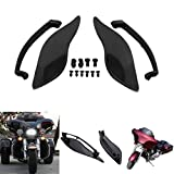 Kawayee 2x ABS Plastic Side Wings Air Deflectors For Harley Davidson Touring Street Glide 2014-2017 Black