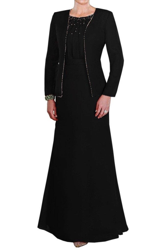 (ウィーン ブライド)Vienna Bride 披露宴用母親ドレス ママのドレス ロングドレス タイトドレス ベスト付き レースボレロ ハートカットネック B01MYZXGIE 9 ブラックH ブラックH 9