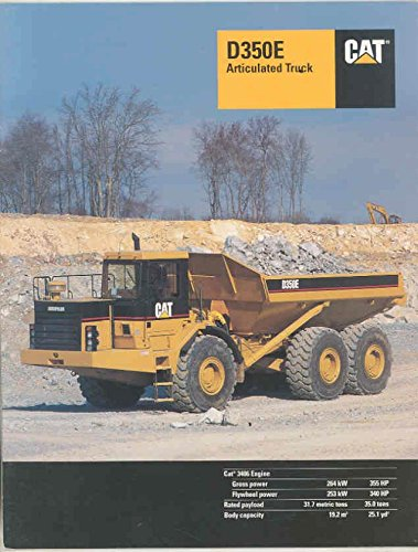 1996 Caterpillar - 1996 Caterpillar D350E 35Ton Articulated Construction Dump Truck Brochure