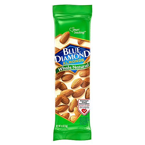 Blue Diamond Almonds, Whole Natural Raw Almonds, 1.5 Ounce (Pack of 12)