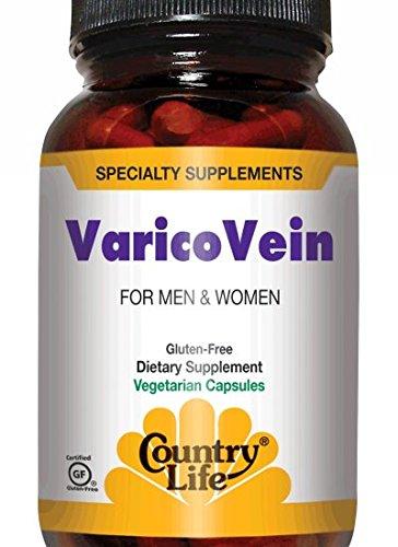 Country Life Varicovein, For Men and Women, 60 Vegan Caps