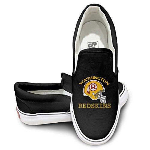 Amone Washington Redskin Sportstyle Unisex Flat Canvas Shoes Sneaker Black 44 (Kindle Fire 7 Redskin Case)