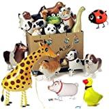 SwirlColor 5 PC Walking regalos Globo de mascotas para niños Kids Party Animal hoja hincha