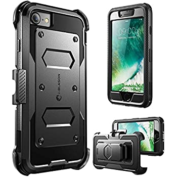 iPhone 7 Case, iPhone 8 Case [Armorbox] i-Blason built in [Screen Protector] [Full body] [Heavy Duty Protection ] Shock Reduction / Bumper Case for Apple iPhone 7/iPhone 8 (Black)