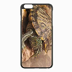 iPhone 6 Plus Black Hardshell Case 5.5inch - carapace eyes turtle Desin Images Protector Back Cover
