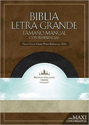 RVR 1960 Biblia Letra Granda Tamano Manual con Referencias ...