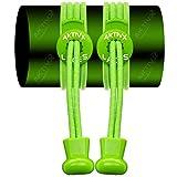 AKTIVX SPORTS No Tie Shoe Laces for Golf Shoes - Neon Green
