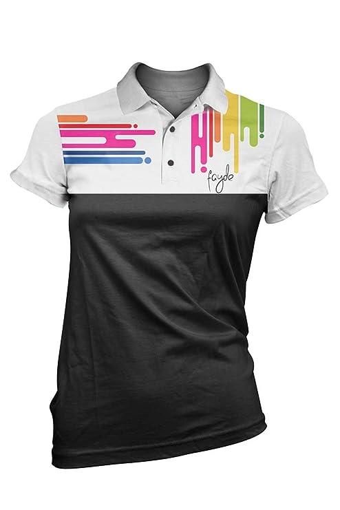 Fayde Europa moda de Gel Ladies Golf Polo - Negro, Ladies Golf ...