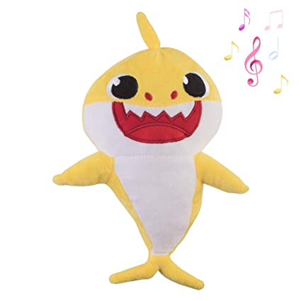 Baby Shark Plush LED birthday gift Plush Toys Music Doll Sing English Song Toy