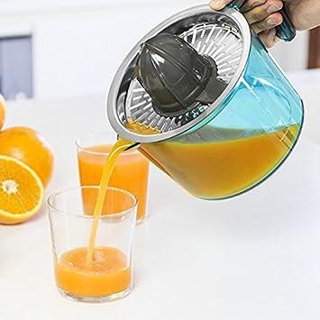 Exprimidor eléctrico de acero inoxidable - Préparation zumo de fruta y naranja fácil y rápido: Amazon.es: Electrónica