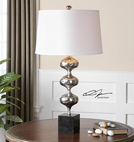 One Light Silver Table Lamp -