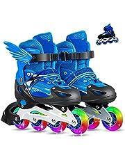 حذاء تزلج كلاسيكي مريح قابل للتعديل للبنات والاولاد