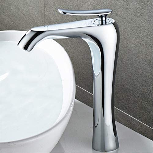 ソリッドブラスシングルハンドル単穴の浴室のシンクの蛇口洗面器のミキサータップホット冷水で浴室の蛇口アウト現代シングルハンドルプル,1