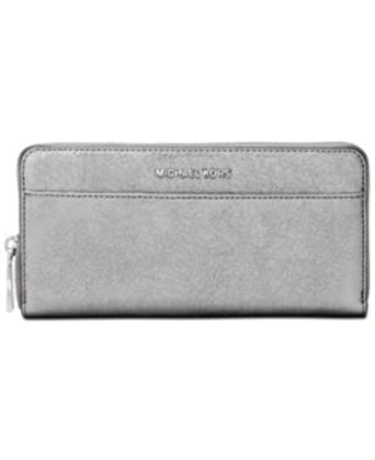 3dff48b3922cd1 Image Unavailable. Image not available for. Color: Michael Kors Light  Pewter Metallic Money Pieces Boxed Zip Around Wallet