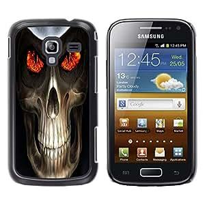 TopCaseStore / la caja del caucho duro de la cubierta de protección de la piel - Evil Skull Death Reaper - Samsung Galaxy Ace 2 I8160 Ace II X S7560M