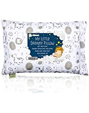 Toddler Pillow With Cute Pillowcase - 13X18 Soft Organic Cotton Baby Pillows For Sleeping - Washable & Hypoallergenic - Toddlers, Kids, Infant - Perfect For Travel, Toddler Cot, Bed Set (Kea Safari)