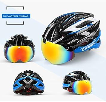 INBIKE ciclismo casco bicicleta casco con ciclismo gafas ultraligero Integrally-molded carretera MTB casco magnético