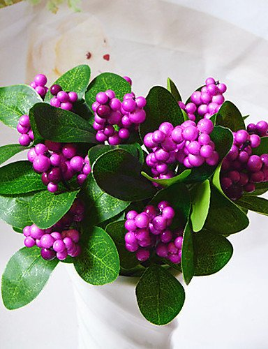RZAOHuaj,Artificial flowers, decorative bouquet, Artificial Flowers for Home Decoration Mini Simulation Fruit Vegetables for Holiday Decorations , rose